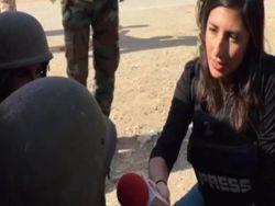 مراسلة القناة الثانية الاسرائيلية تغطي معركة الموصل