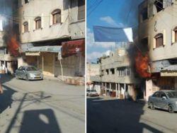 الدفاع المدني يسيطر على حريق اندلع في محل للعطور بمخيم طولكرم