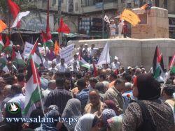 جماهير طولكرم تندد بالجريمة الإسرائيلية بحق أسطول الحرية