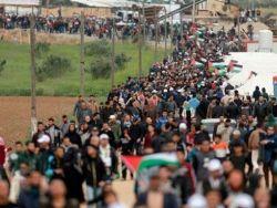 """حماس: مسيرات العودة انطلقت لإسقاط """"صفقة القرن"""""""
