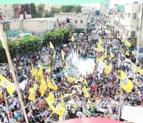 الآلاف بطولكرم يشاركون في مهرجان صبرا وشاتيلا ويبايعون القيا ...