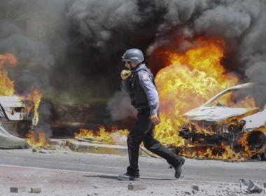 مقتل 7 اسرائيليين واصابة 523 آخرين في القصف الصاروخي من غزة