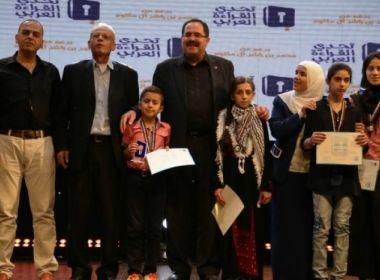 مدرسة طلائع الامل الفلسطينية تفوز بأكبر تحدي باللغة العربية بالوطن العربي