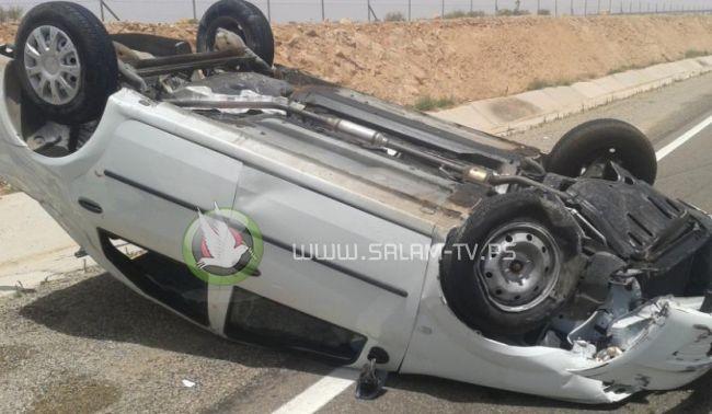 وفاة مواطن بانقلاب سيارته