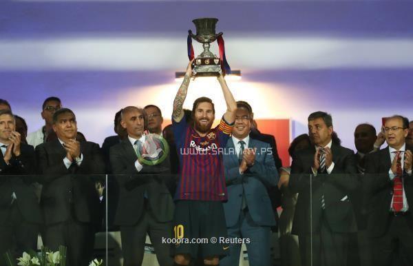 قذيفة ديمبلي تهدي برشلونة كأس السوبر الإسباني