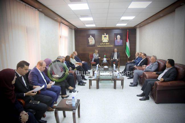 محافظ طولكرم عصام أبو بكر يلتقي ممثل النرويج لدى دولة فلسطين