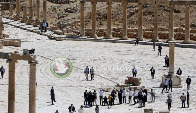 اصابة سياح ورجل أمن اردني في هجوم طـ ـعن بمنطقة جرش الأثرية