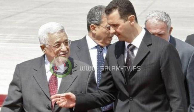رسالة خطية من الرئيس الفلسطيني الى بشار الأسد
