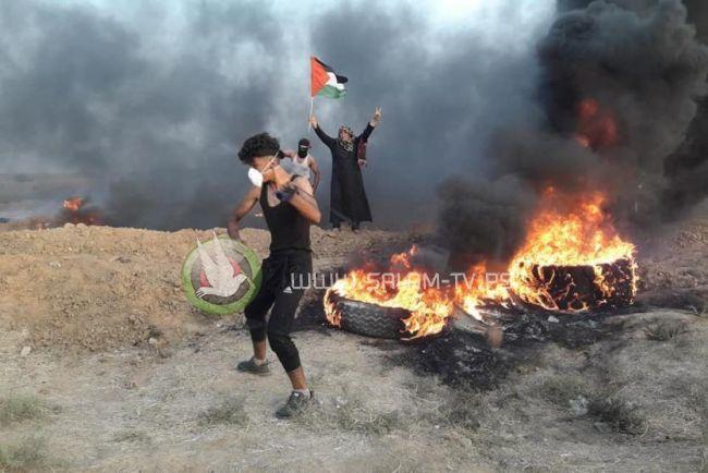 شهيدان و اصابات على حدود غزة