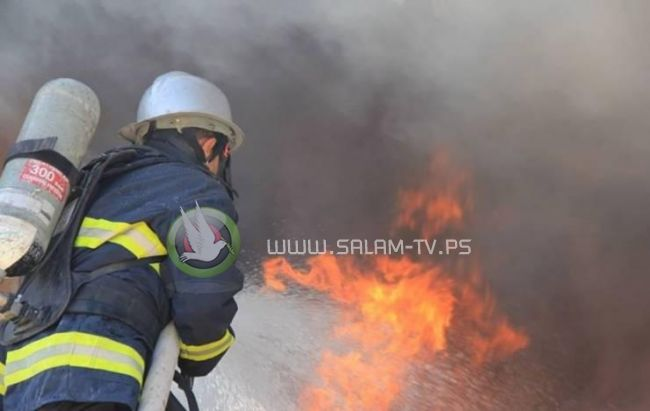 إصابة شاب بحريق في محيط الجامعة العربية الأمريكية