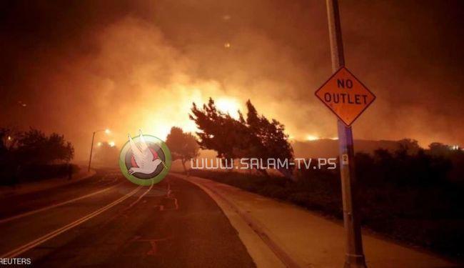 بعد الأعاصير ...حرائق ضخمة تشتعل في ولاية كاليفورنيا الأمريكية