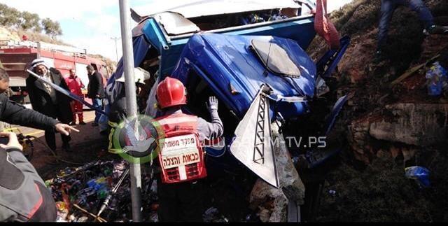 مصرع مواطن بحادث سير جنوب نابلس