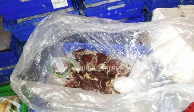ضبط خمسة اطنان من اللحوم المجمدة غير صالحة للاستهلاك الآدمي