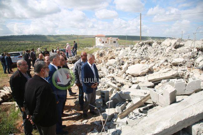 محدث : محافظ طولكرم : هدم منزل جبارة جريمة وغطرسة إسرائيلية للسيطرة على الأرض