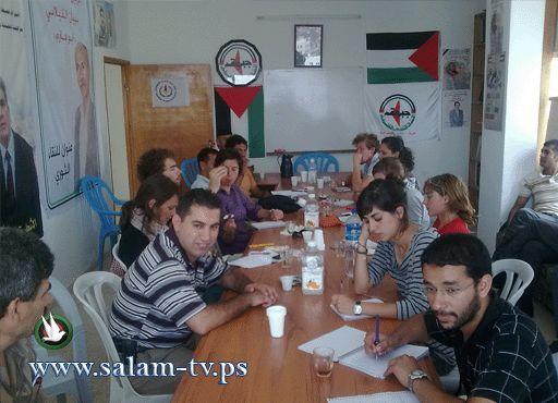 """النضال بطولكرم تستقبل وفد من حركة """" جيل فلسطين """" الأوروبية"""