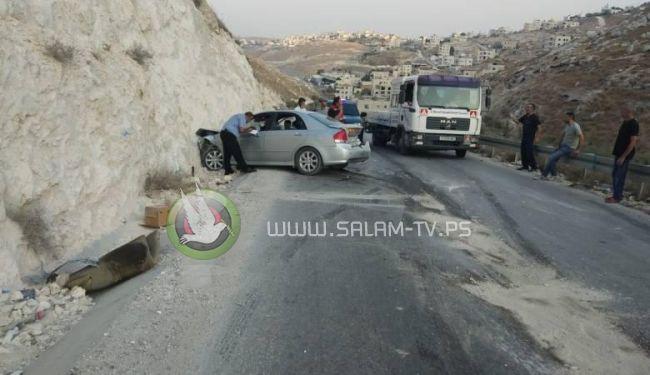 مصرع 6 مواطنين واصابة 2589 آخرين في حوادث سير بالضفة الغربية الاسبوع الماضي