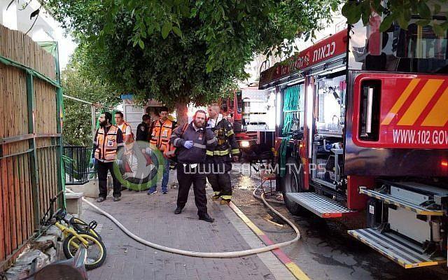 فيديو| وفاة رضيع وإصابة 13 في حريق بصفد