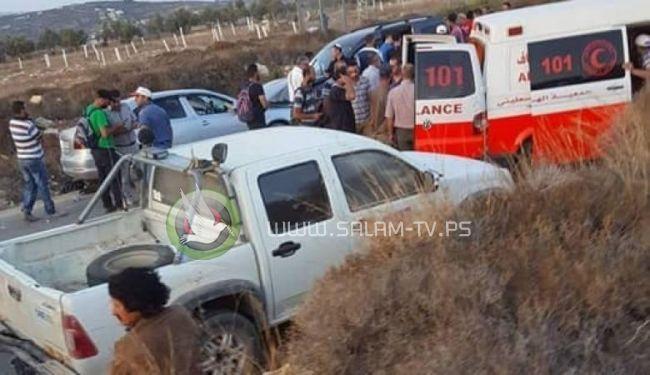اصابة 15 عاملا فلسطينيا بحادث اصطدام مع مركبة اسرائيلية جنوب غرب بيت لحم