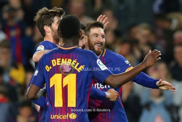 هاتريك ميسي يقود برشلونة للفوز على ليجانيس