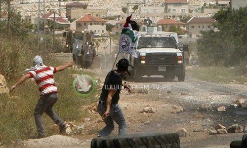 عشرات الإصابات خلال قمع الاحتلال لمسيرة تضامنية مع غزة على حاجز حواره
