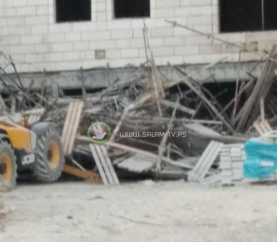 اصابة 5 عمال إثر انهيار سقالة بموقع بناء غرب القدس