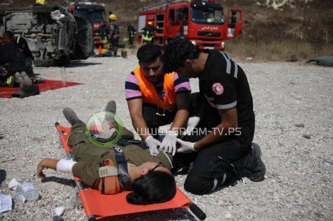 تمرين فلسطيني إسرائيلي للتعامل مع الحوادث على طرق الضفة
