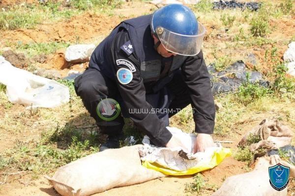 شرطة هندسة المتفجرات تضبط وتتلف جسم مشبوه في طولكرم