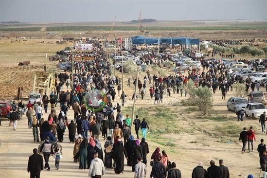 14 اصابة برصاص الاحتلال على حدود غزة