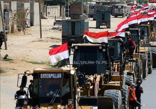 إسرائيل تبعث رسالة لمصر بشأن ادخال مواد الاعمار لغـزة