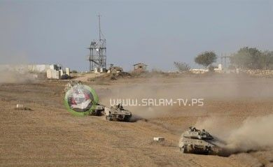 طائرات الاحتلال تقصف هدفا شمال غزة والدبابات تتوغل برفح