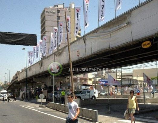 تفجير جسر معاريف في تل ابيب صباح الجمعة