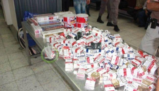 احصائية : ضبط 84 ألف كروز سجائر مهرب في الضفة منذ بداية العام