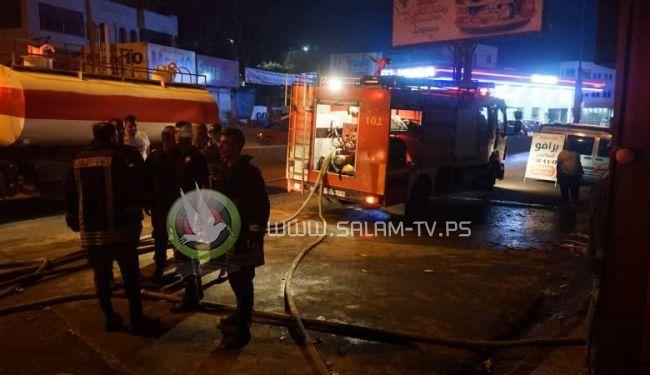اصابة 9 مواطنين في حريق اندلع بمخبز في قلنديا