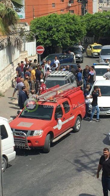 الدفاع المدني ينقذ 3 أطفال من داخل مركبة في طولكرم