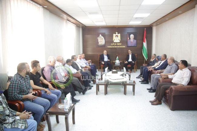 وزير العمل د. نصري أبو جيش يزور محافظة طولكرم ويبحث عدداً من القضايا المشتركة