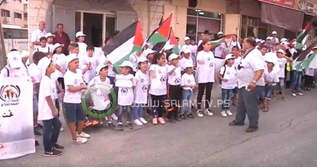 الأطفال في طولكرم يهتفون لحرية الأسرى .. شاهد الفيديو
