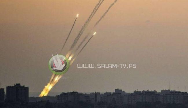 اطلاق صواريخ من غزة صوب مستوطنات الغلاف