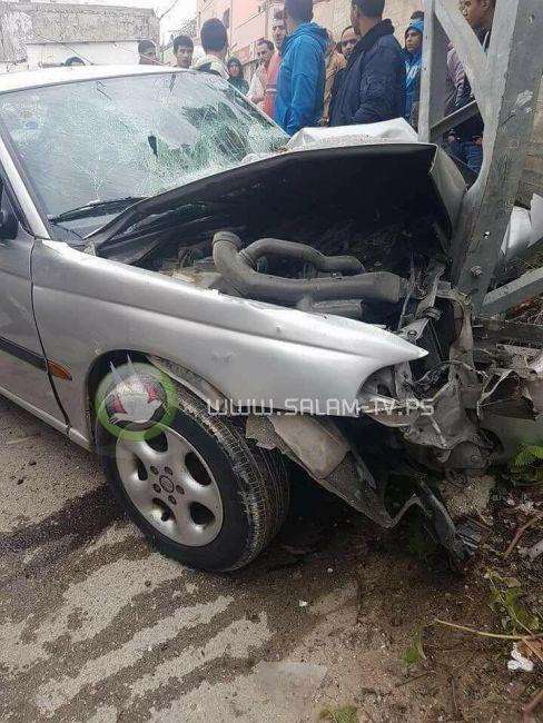 مصرع أب وابنه في حادث سير ذاتي ببلدة بلعا شرق طولكرم