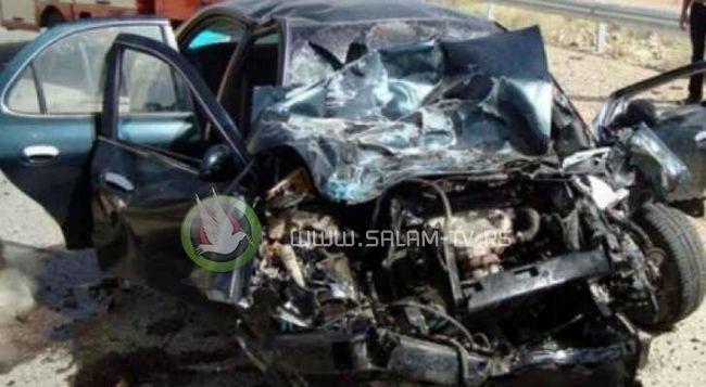 وفاة مواطن وزوجته واصابة طفلتهما من طولكرم بحادث سير في مدينة الزرقاء بالاردن