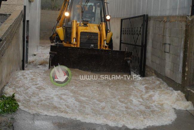 هطول الامطار في مدينة طولكرم