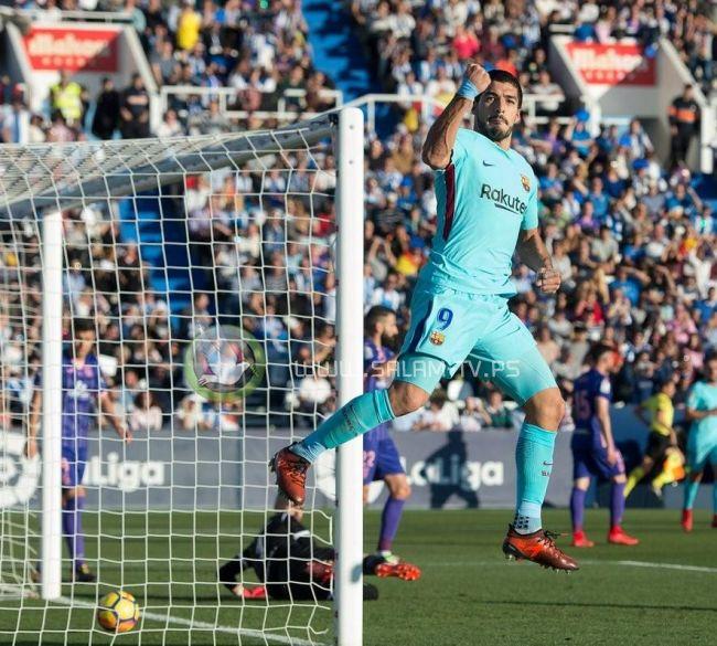 ثنائية سواريز تقود برشلونة إلى الفوز على ليغانيس والابتعاد في الصدارة