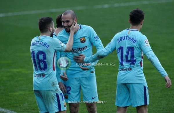 ثنائية سواريز والبا تقود برشلونة لفوز صعب امام ايبار