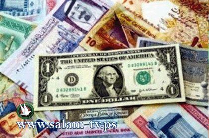 عملات مقابل الشيقل:دولار 3.72- دينار 5.25- يورو 5.12- جنيه 0.68