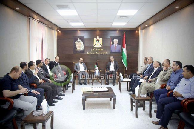 المحافظ أبو بكر يلتقي وفداً من المكتب الحركي للمحامين فرع طولكرم