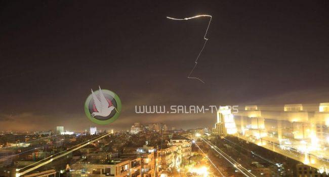 """الدفاعات الجوية السورية تتصدى لاهداف """"معادية"""""""