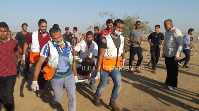غزة- شهيد وعشرات الجرحى شرق غزة