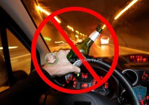 سائق مركبة عمومي مستهتر يقود مركبته تحت تأثير مواد مسكره في قلقيلية و يتسبب بحادث سير